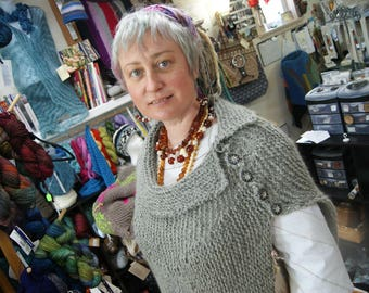 Whats the Point Poncho Origional Made by Roisin Sheehy-Culhane