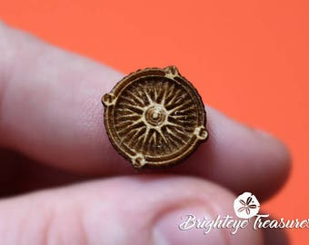 Wooden Compass Charm