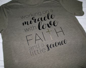 Trying To Conceive Shirts / TTC Shirts / Mom Shirts / Inspirational Shirts / Graphic Tees / Gifts For Her / Infertility Shirts / Maternity