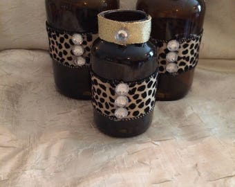 Gold Leopard Jars