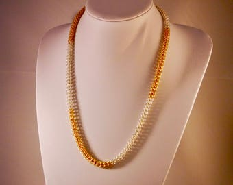 Silver and Gold Plated Full Persian Chainmaille Necklace