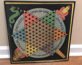 1938 Colorful Chinese Checkers Board with just the right amount of crunchiness!
