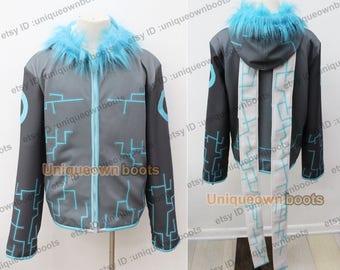 Women's Lightning Sans Cosplay Hoodie with fur Jacket