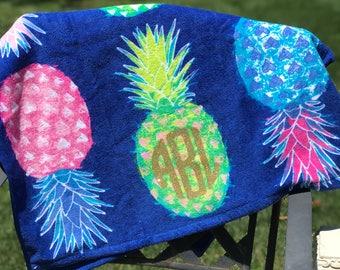 monogrammed beach towel beach towel bridesmaid gift beach pool - Monogrammed Beach Towels
