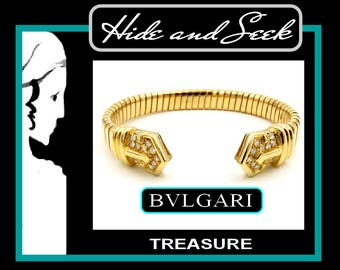 BVLGARI diamond and 18k Cuff
