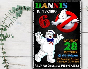 Ghostbusters Invitation, Ghostbusters Birthday, Ghostbusters Party, Ghostbusters Invite, Ghostbusters Birthday Invitation, Ghostbusters