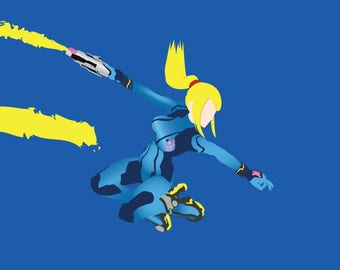Super Smash Bros. - Zero Suit Samus Print