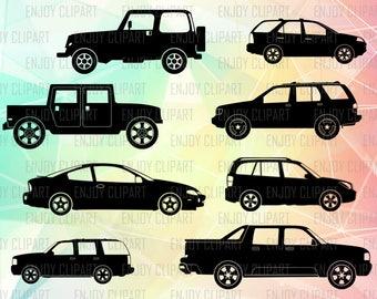 Car Svg, Car Clipart, Car Decal, Car Silhouette, Jeep Svg File, Jeep Decal, Transportation Svg, Car Monogram, Cuttable Files, Cricut Svg