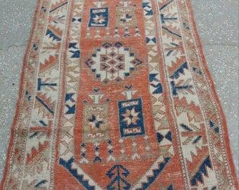 Vintage Turkish Oushak Rug,Handmade Wool Turkish Rug, 2'3''x4'3''ft,Pastel Colors,Home Living,Area Rug,Oushak Rug,Vintage Turkish Rug,Rugs,