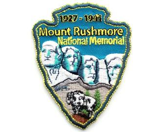 Official Mount Rushmore National Memorial Souvenir Patch South Dakota Park Monument Scrapbooking Mt. FREE SHIPPING