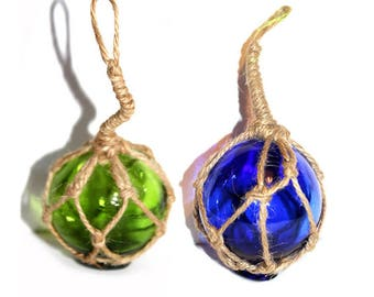 """Choice Of Witch Ball. Glass Witch Ball.  2.5"""" Fishing Float Decoration. Witch Ball. Small  Witch Ball.  Witch Ball Ornament. Fishing Float"""