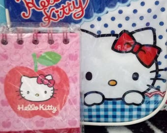 Super cute sanrio hello kitty mini bag and lined notepad with tags