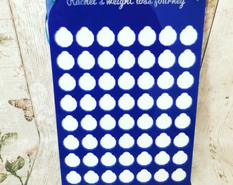 Personalised weight loss chart, weight loss chard, pounds for lbs weight chart, motivational plaque
