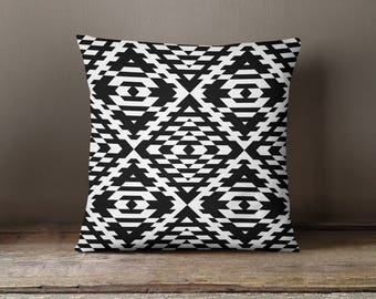 Black Trance Print Pillow