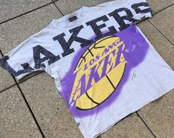 90s LOS ANGELES LAKERS T-Shirt by America's Favorites Nba Magic Johnson's T's Kobe Bryant Basketball