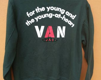 Rare vintage van jac big logo like varsity jacket