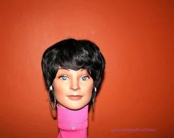 "READY TO SHIP // Human hair wig ""Black Velvet"""
