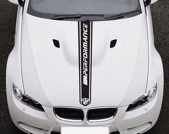 BMW 3 E92 M Performance Sport Hood Stripe Car Vinyl STICKER JDM Decal Graphic