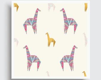 GEO GIRAFFES | Pattern Art Print