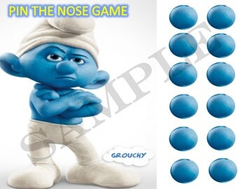 The Smurf's Game Pin the Nose