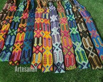 Wholesale 1 dozen (12 belts)/Mexican handwoven boho tribal /Bohemian belts/