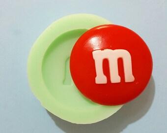 Flexible silicone mold M & M's semi gloss (random color)