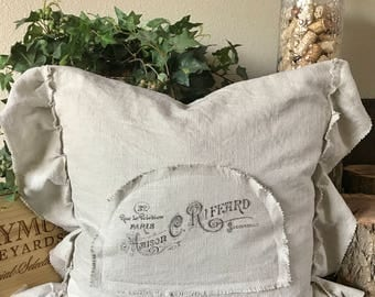 Shabby chic French pillow