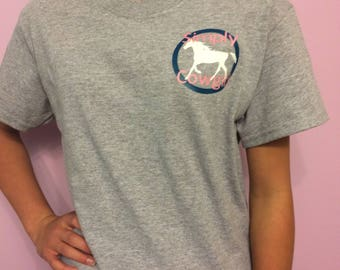 "simply cowgirl shirt "" womans and girls """