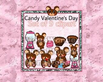 Valentine's Day digital clip art set