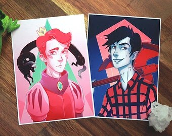 Adventure Time Prints - Prince Gumball - Marshall Lee (choose 1)