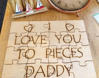 Personalised Wooden Jigsaw - Fathers Day Gift