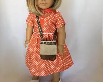 18 inch doll clothes and purse