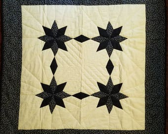 Navy Stars Baby Quilt or Wall Hanging