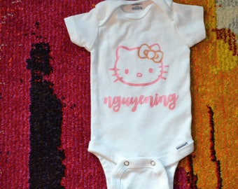 Personalized Hello Kitty Onesie