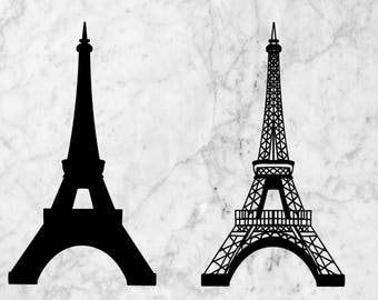 Eiffel tower Svg, dxf, cut file. Eiffel tower vector eps and png clip art. France monument vector for cricut or silhouette studio