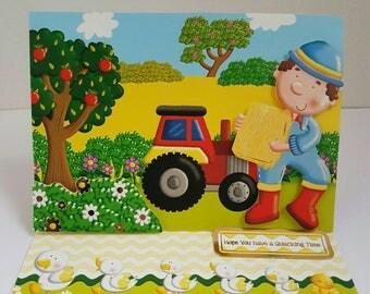 Handmade farmyard birthday/ greetings cards