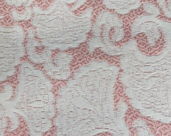Brocade fabric Matelassè cm 160 x 190 pink and white