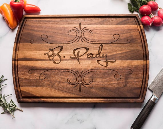 Personalized Wood Engraved Cutting Board, Wedding Engagement Anniversary Gift for Parents, Couple, Individual, Corporate, Retirement Gift