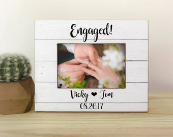 personalized engagement frame proposal frame engagement party gift engagement frame engagement gift fiance - Engagement Picture Frames
