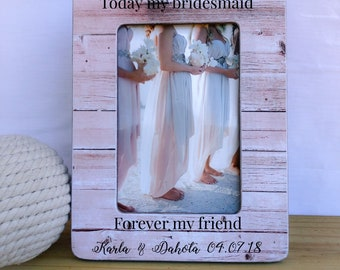 Maid of Honor Sister Gift Sister Thank You Frame Thank you Gift for Sister  Personalized Sister Bridesmaid Gift Frame