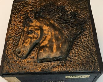 Altered Cigar Box - Horses Head