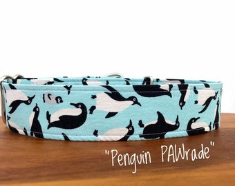 "1.5"" ""Penguin PAWrade"" Collar/ Penguin Pattern"