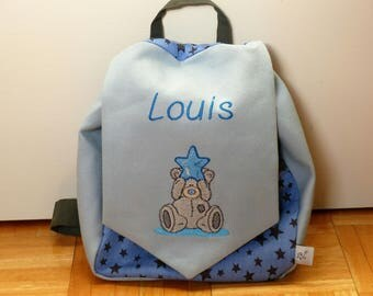 Small backpack personalized children, ideal for entering into kindergarten.
