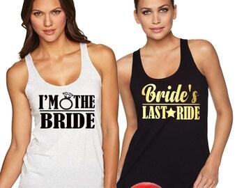 Bachelorette Party Shirts, Bridesmaid Shirts,bridesmaid shirt,Bachelorette Party Tanks,Bride's Last Ride shirts tank tops,Bachelorette,bride