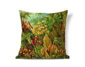 Victorian Pillow - Ernst Haeckel Art Pillow - Floral Pillow Sham - Accent Pillow - Textured Pillows - Throw Pillow Cover - Decorative Pillow