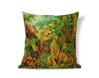 Victorian Pillow - Ernst Haeckel Art Pillow - Floral Pillow Sham - Accent Pillow - Textured Pillows - Throw Pillow Cover - Decorative Pillow