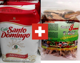 Santo Domingo ground Dominican coffee + mamajuana dry set