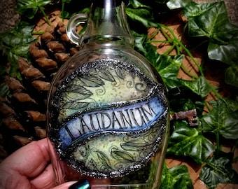 Tall Halloween Decoration Laudanum Poison Bottle