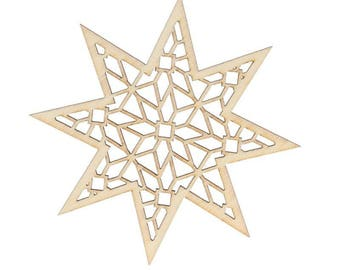 wooden star pattern