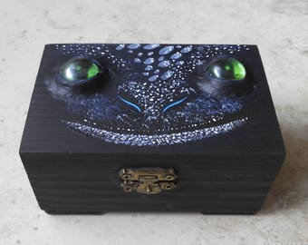 Toothless box jewel-inspired dragon Desdentao toothless